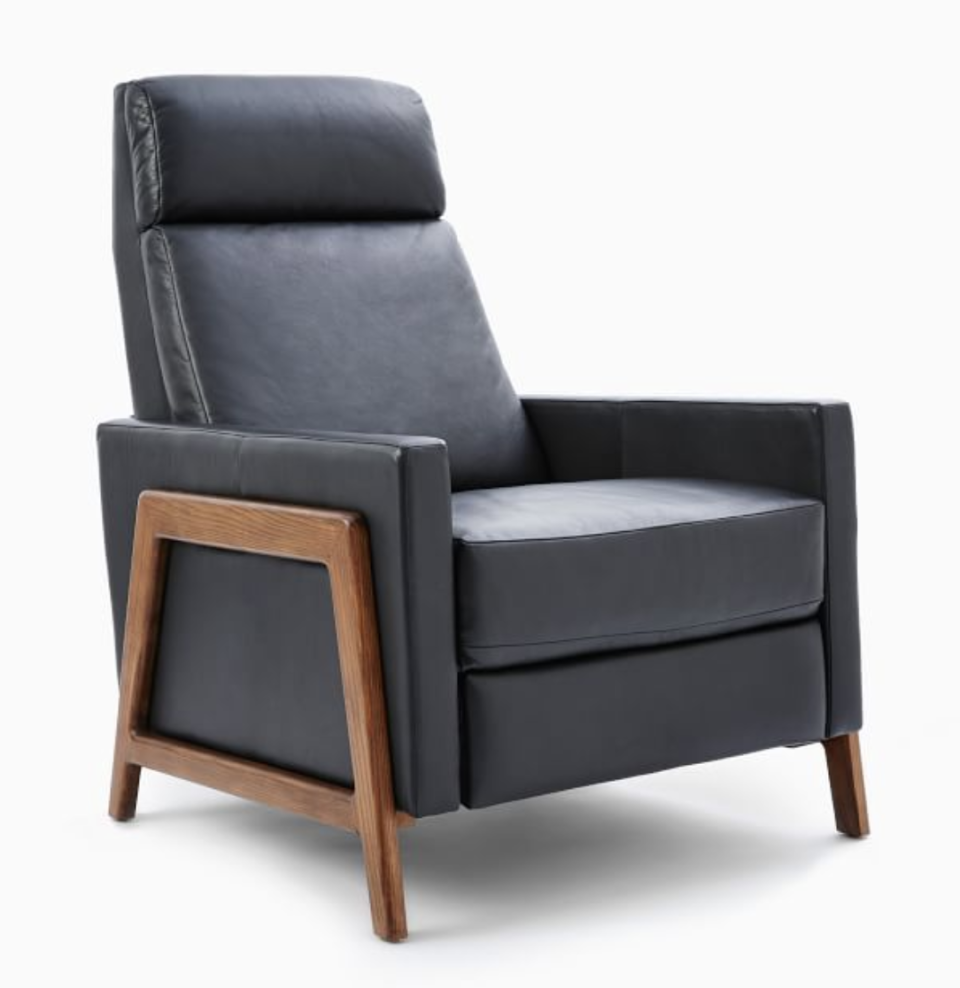 "<p><strong>New Colors</strong></p><p>westelm.com</p><p><strong>$2718.40</strong></p><p><a href=""https://go.redirectingat.com?id=74968X1596630&url=https%3A%2F%2Fwww.westelm.com%2Fproducts%2Fspencer-wood-framed-recliner-h1206&sref=https%3A%2F%2Fwww.harpersbazaar.com%2Ffashion%2Ftrends%2Fg4473%2Fmens-holiday-gift-guide%2F"" rel=""nofollow noopener"" target=""_blank"" data-ylk=""slk:Shop Now"" class=""link rapid-noclick-resp"">Shop Now</a></p><p>Every king needs a throne. </p>"