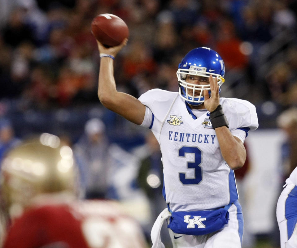 Kentucky QB Andre' Woodson didn't quite pan out the way some NFL scouts thought he might. (Getty Images)