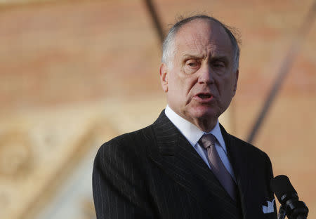 "World Jewish Congress President Lauder addresses participants in the annual ""March of the Living"" in Budapest"