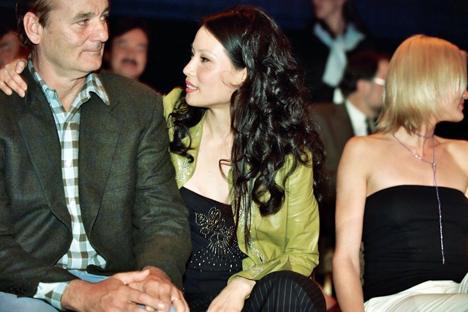 Bill Murray and Lucy Liu during 2000 NATO/Showest Convention at Paris Hotel in Las Vegas, Nevada, United States. (Photo by Jeff Kravitz/FilmMagic, Inc)