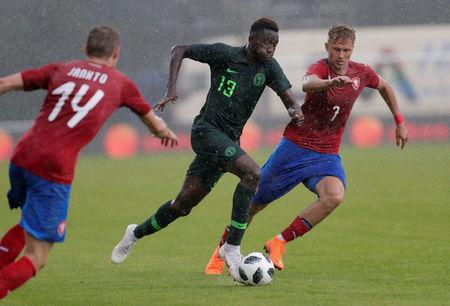 Soccer Football - International Friendly - Czech Republic vs Nigeria - Rudolf-Tonn-Stadion, Schwechat, Austria - June 6, 2018 Nigeria's Wilfred Ndidi in action with Czech Republic's Antonin Barak REUTERS/Heinz-Peter Bader