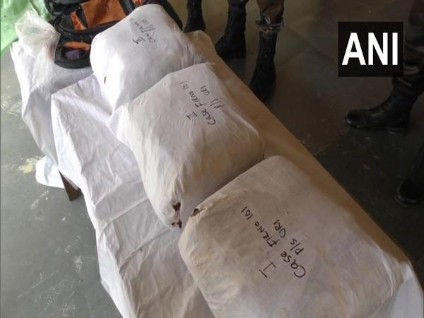 Contraband substance was recovered by the army and police from Uri on Saturday. (Photo/ANI)