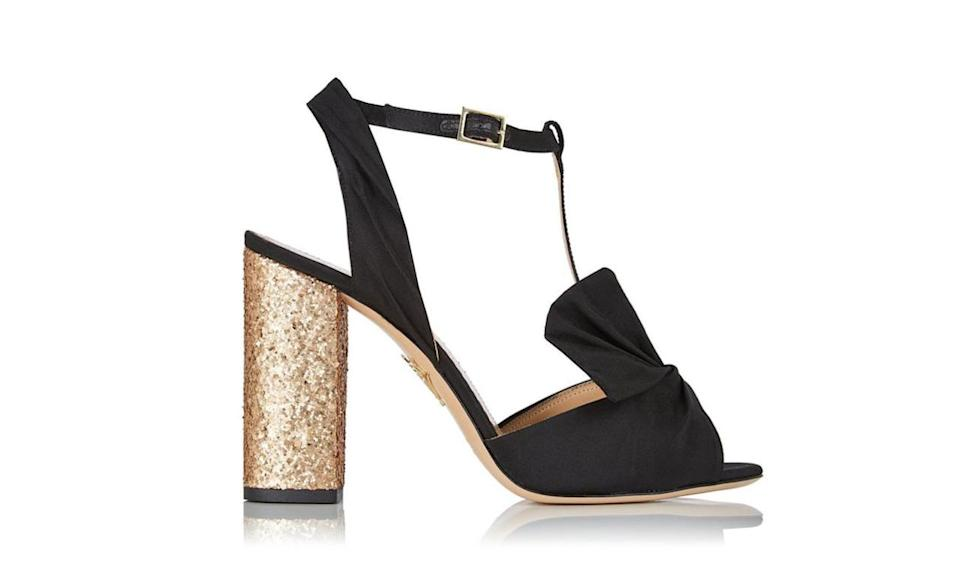 """<p>$795, <a href=""""http://us.charlotteolympia.com/collections/cruise-16/odelle/C164621SLG0001.html"""" rel=""""nofollow noopener"""" target=""""_blank"""" data-ylk=""""slk:charlotteolympia.com"""" class=""""link rapid-noclick-resp"""">charlotteolympia.com</a><br><br></p>"""