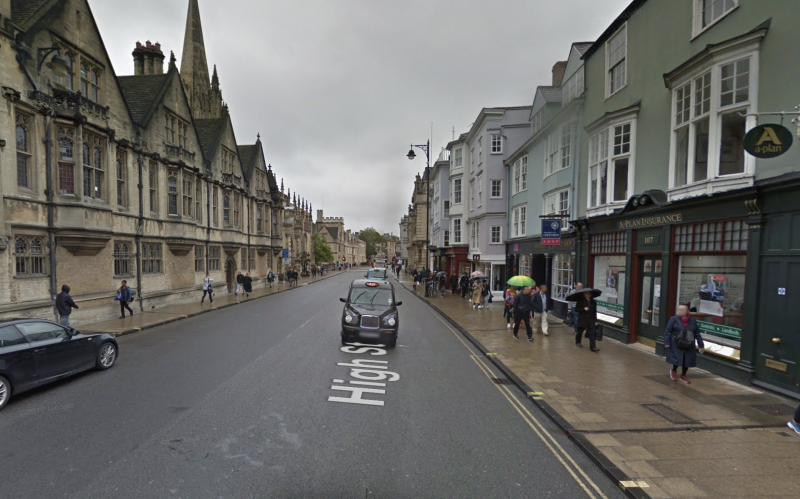 The child was found in Oxford. (Google Maps)