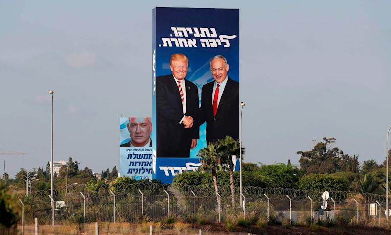 A re-election poster for Benjamin Netanyahu
