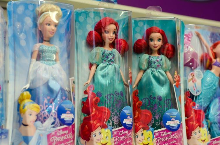 A selection of Disney dolls.