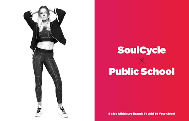 <p>SoulCycle partnered up with two of New York's coolest designers, Dao-Yi Chow and Maxwell Osbourne, who are creative directors of their New York-infused fashion brand, Public School. The collection features their staple NYC edginess in a stylish line of hoodies, leggings, and sweatshirts that any fashionista would love. But make sure you have the budget to support it, as the collection isn't cheap. (Photo: courtesy of SoulCycle, art: Quinn Lemmers) </p>