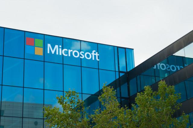microsoft flow new support hq headquarters buiding sign logo symbol company