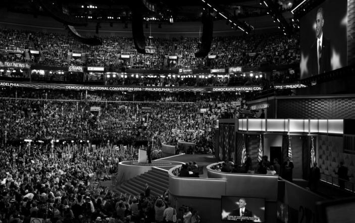 <p>President Obama speaks at the Democratic National Convention Wednesday, July 27, 2016, in Philadelphia, PA. (Photo: Khue Bui for Yahoo News)</p>