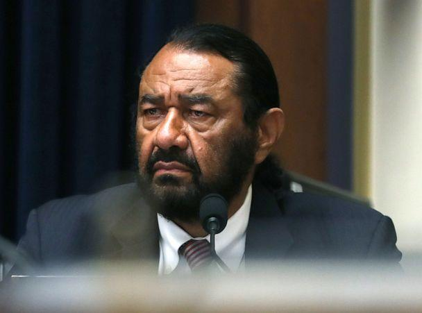 PHOTO: Rep. Al Green (D-TX) listens to testimony during a House Financial Services Committee hearing on Capitol Hill, July 17, 2019, in Washington, DC. (Mark Wilson/Getty Images)