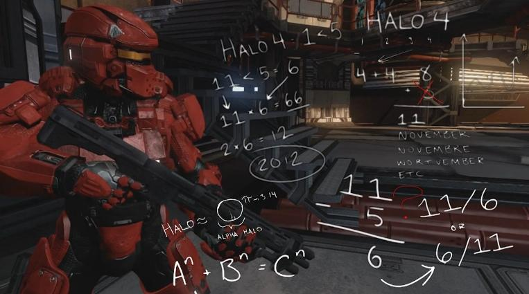 Sarge has a complicated method for remembering the 'Halo 4' launch date.