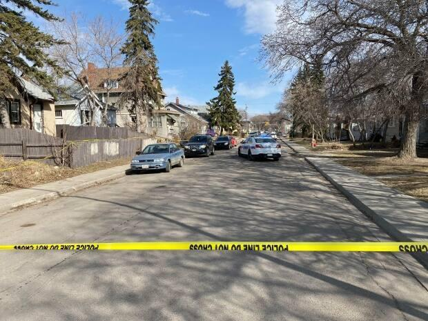 Police were called to the 1500 block of Cameron Street around 8:30 p.m. Wednesday night after getting a report of an injured man.  (Kirk Fraser/CBC - image credit)