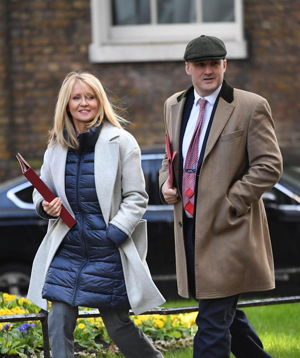 Esther McVey and Jake Berry, two Conservative MPs who have called for business rates to be cut (Stefan Rousseau/PA) (PA Archive)