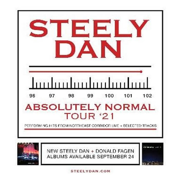 Steely Dan Absolutely Normal Tour '21 logo.