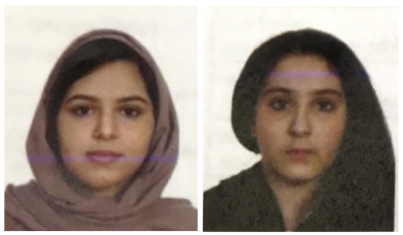 Passport photos of Tala and Rotana Farea, found dead in New York.  (ASSOCIATED PRESS)