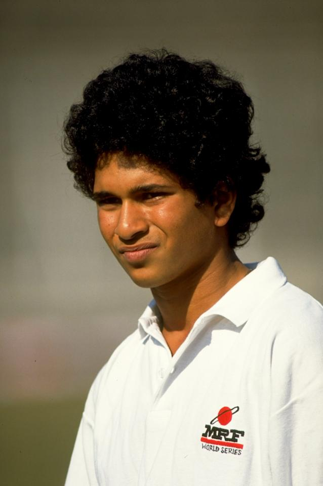 Oct 1989:  Portrait of Sachin Tendulkar of India in Lahore, Pakistan. \ Mandatory Credit: Ben  Radford/Allsport