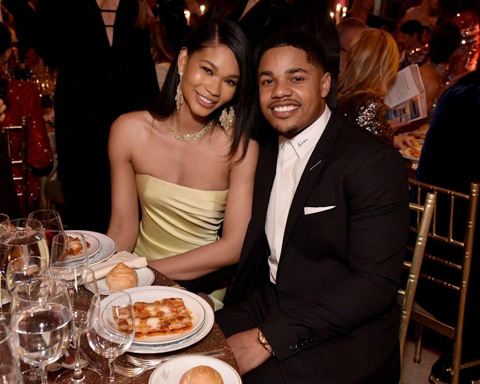 "<p>You could say Chanel Iman is New York Giants receiver Sterling Shepard's dream woman: ""When I was younger, I'd see her in the Victoria's Secret magazines that my sisters were getting, but it didn't really come to me [at the party]. When she walked into the room one of my boys was like, 'You know who that is?' and I was like, 'No,'"" <a href=""https://www.usmagazine.com/celebrity-news/news/sterling-shepard-recalls-meeting-wife-chanel-iman-it-was-crazy/"" rel=""nofollow noopener"" target=""_blank"" data-ylk=""slk:Sterling recalled"" class=""link rapid-noclick-resp"">Sterling recalled</a> of meeting Iman at Victor Cruz's 30th birthday party in 2016. The couple has been together since that first meeting. In 2018, <a href=""https://www.usmagazine.com/celebrity-news/news/chanel-iman-sterling-shepard-are-married/"" rel=""nofollow noopener"" target=""_blank"" data-ylk=""slk:they got married"" class=""link rapid-noclick-resp"">they got married</a> and <a href=""https://www.usmagazine.com/celebrity-moms/news/chanel-iman-gives-birth-to-first-child-with-sterling-sherpard/"" rel=""nofollow noopener"" target=""_blank"" data-ylk=""slk:had a child"" class=""link rapid-noclick-resp"">had a child</a>.</p>"