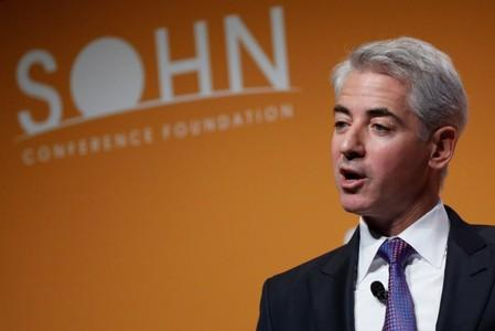William 'Bill' Ackman, CEO and Portfolio Manager of Pershing Square Capital Management, speaks during the Sohn Investment Conference in New York City