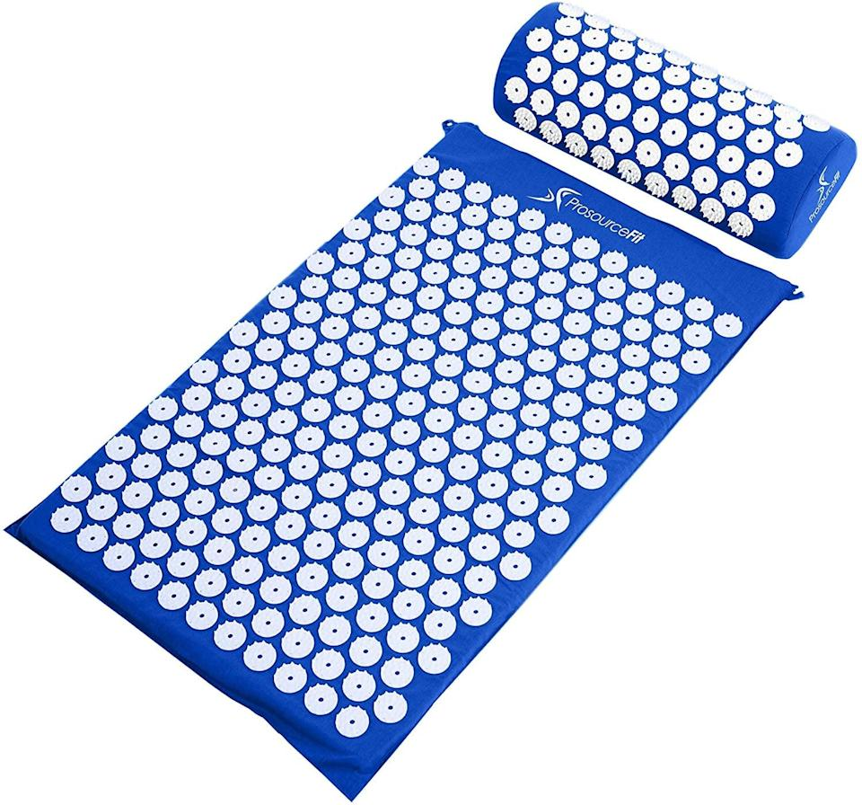 <p>If you want to give yourself the ultimate massage, you need the <span>ProsourceFit Acupressure Mat and Pillow Set For Back/Neck Pain Relief and Muscle Relaxation</span> ($25). </p>