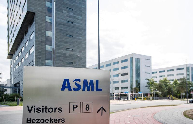 ASML headquarters is seen in Veldhoven