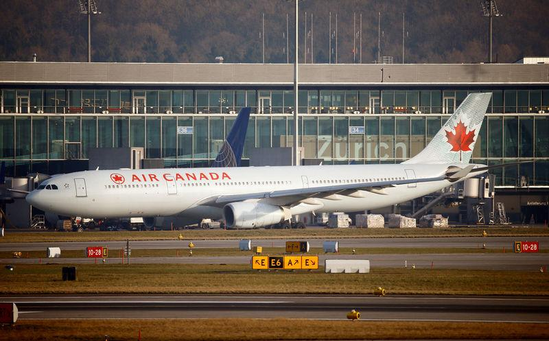 FILE PHOTO: Air Canada Airbus A330 aircraft is seen at Zurich Airport
