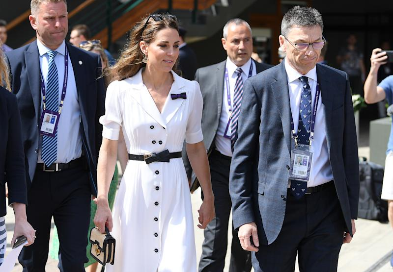 Duchess of Cambridge joins spectators at Wimbledon