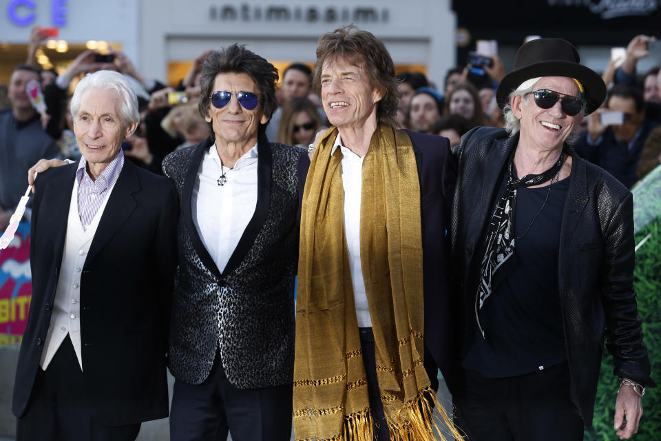 Charlie Watts, Ronnie Wood, Mick Jagger and Keith Richards in London in 2016. (Photo: REUTERS/Luke MacGregor TPX)