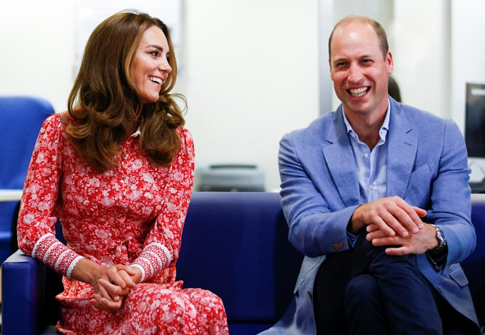 Prince William, Duke of Cambridge and Catherine, Duchess of Cambridge speak to people looking for work at the London Bridge Jobcentre on September 15, 2020 in London, England.