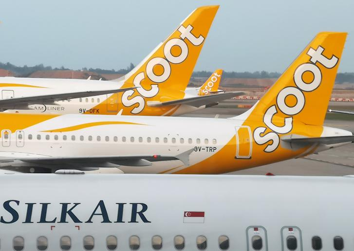 Scoot and Silk Air planes seen on the tarmac at Singapore's Changi Airport. (Reuters file photo)