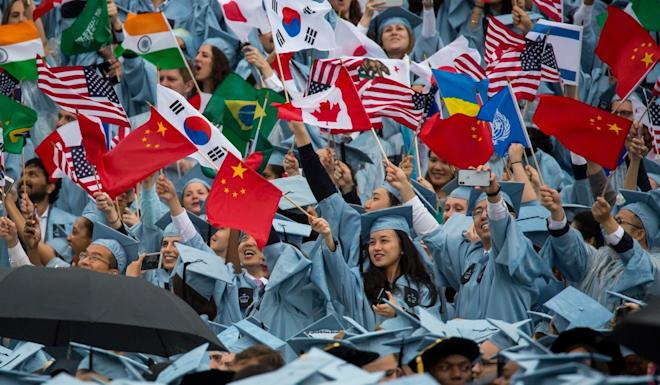 The US is still a popular choice for Chinese students despite recent visa difficulties. Photo: Xinhua