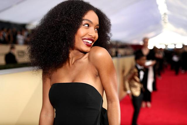 "<p>Yara's Diana Ross-inspired 'do is elaborate yet wearable for naturalistas looking to show off their coils. Celebrity stylist Nai'vasha Johnson used a quarter size of <a href=""https://www.naturalhair.org/curly-curl-cream-6oz.html"" rel=""nofollow noopener"" target=""_blank"" data-ylk=""slk:Taliah Waajid Curly Curl Cream"" class=""link rapid-noclick-resp"">Taliah Waajid Curly Curl Cream</a> to define curls and add shine. <strong>Pro tip: </strong>Brush out hair with a boar bristle brush to get fluffed-out perfection. (Photo: Getty Images) </p>"