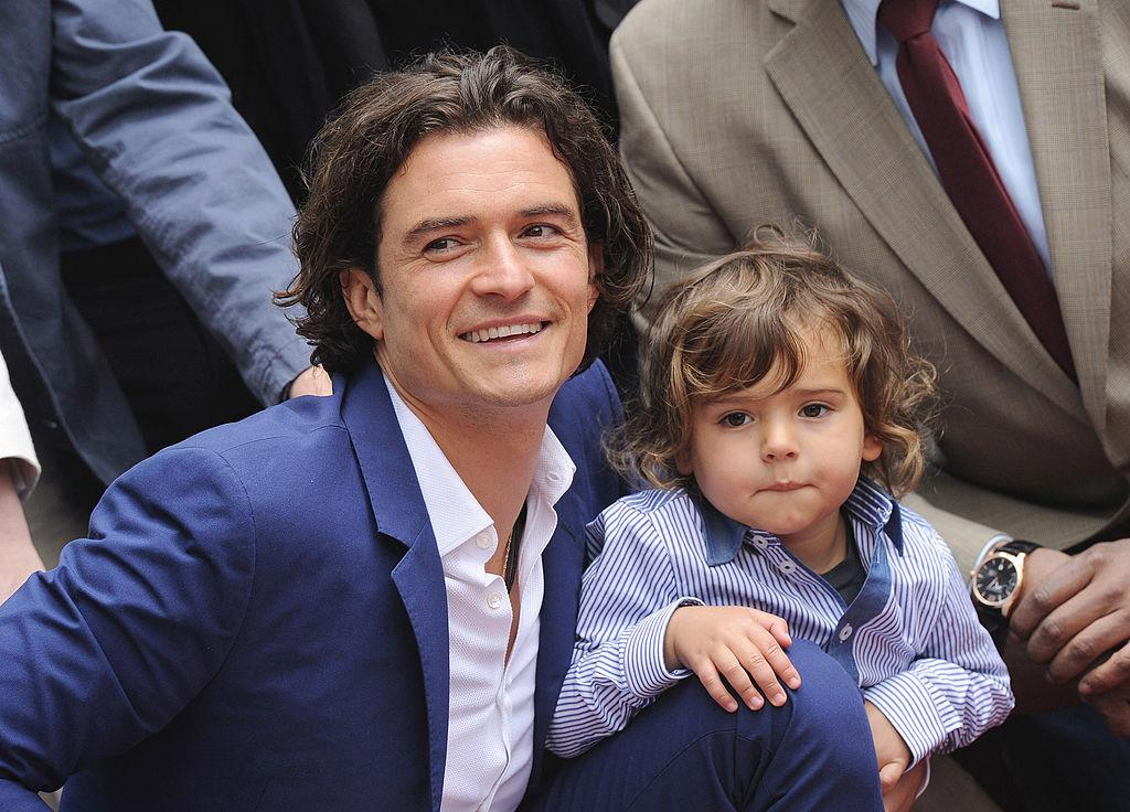 <p>Between the collared shirt and perfectly tousled hair, little Flynn is giving dad some serious competition for cute. <i>(Photo by Axelle/Bauer-Griffin/FilmMagic)</i><br /></p>