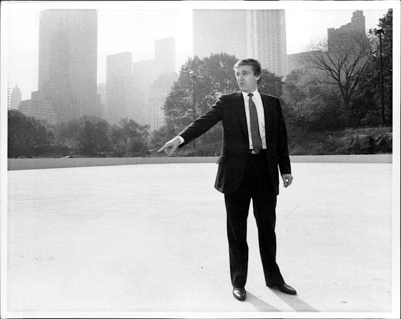Donald Trump in Central Park on Nov. 12, 1986.