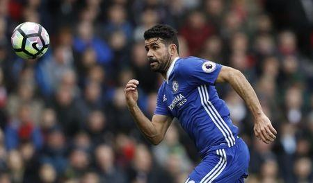Britain Football Soccer - Stoke City v Chelsea - Premier League - bet365 Stadium - 18/3/17 Chelsea's Diego Costa in action Action Images via Reuters / Carl Recine Livepic