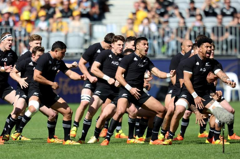 New Zealand brushed aside Australia in Perth to clean sweep the Bledisloe Cup (AFP/Trevor Collens)