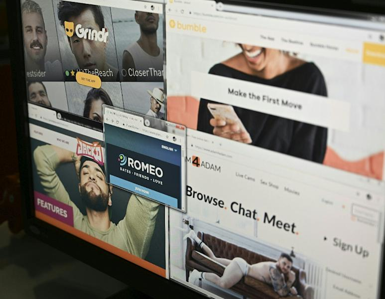 """Grindr, which bills itself as """"the world's largest social networking app for gay, bi, trans and queer people"""", says it has millions of users worldwide (AFP Photo/Eva HAMBACH)"""