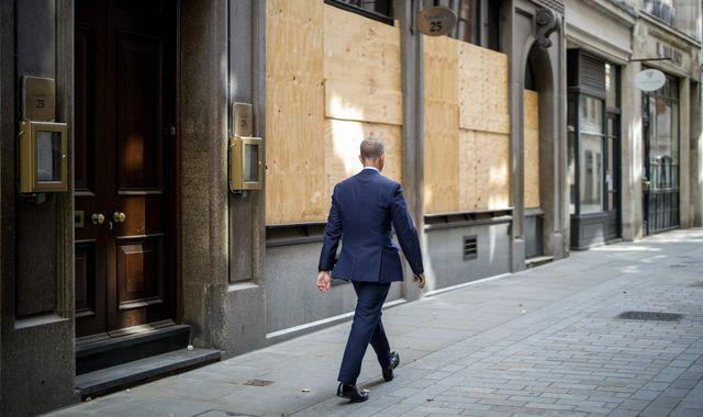Coronavirus: How the Square Mile fell silent - and might never be as bustling again