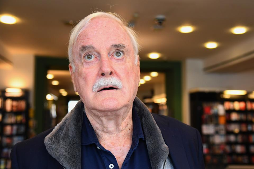 LONDON, ENGLAND - SEPTEMBER 10: John Cleese during a book signing at Waterstones Piccadilly to promote his book