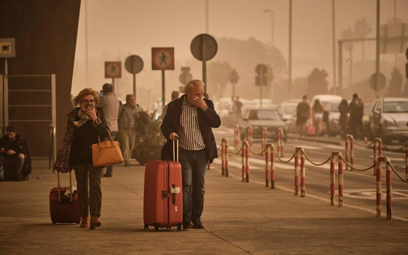 Flights from Gran Canaria, Tenerife, Lanzarote and others airports have been postponed due to the storm - Andres Gutierrez/AP
