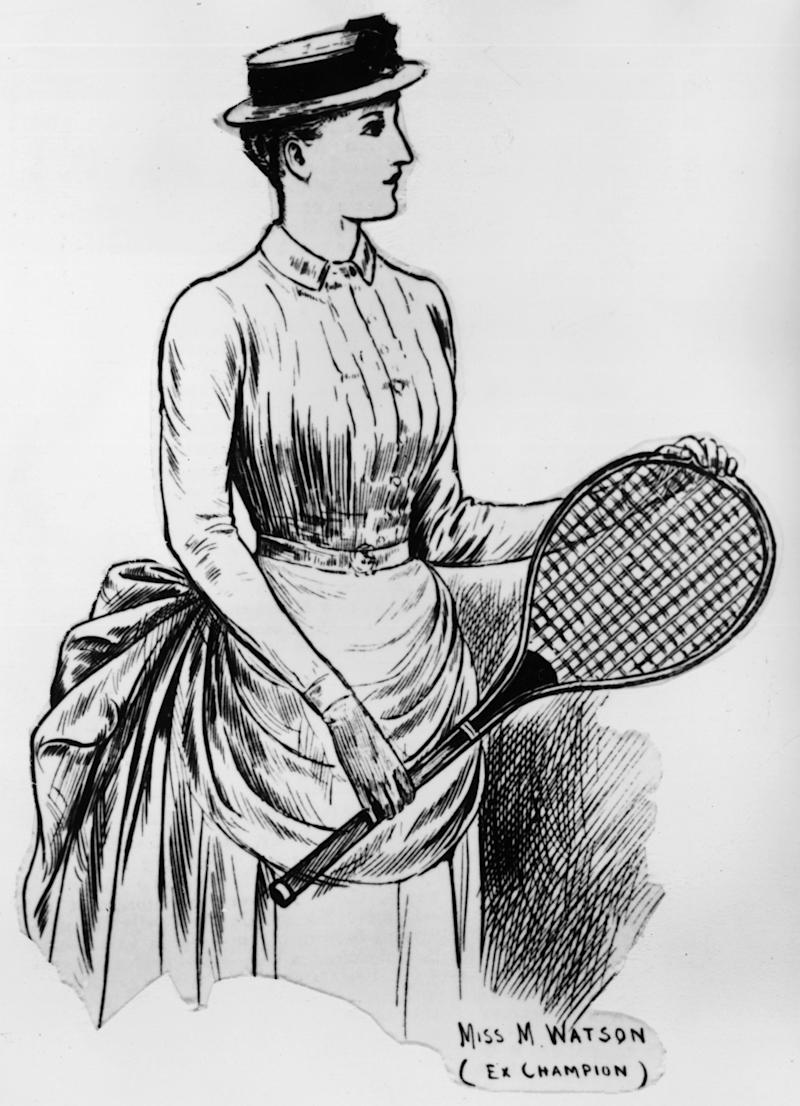 1886: Maud Watson, winner of the first two women's singles titles at Wimbledon
