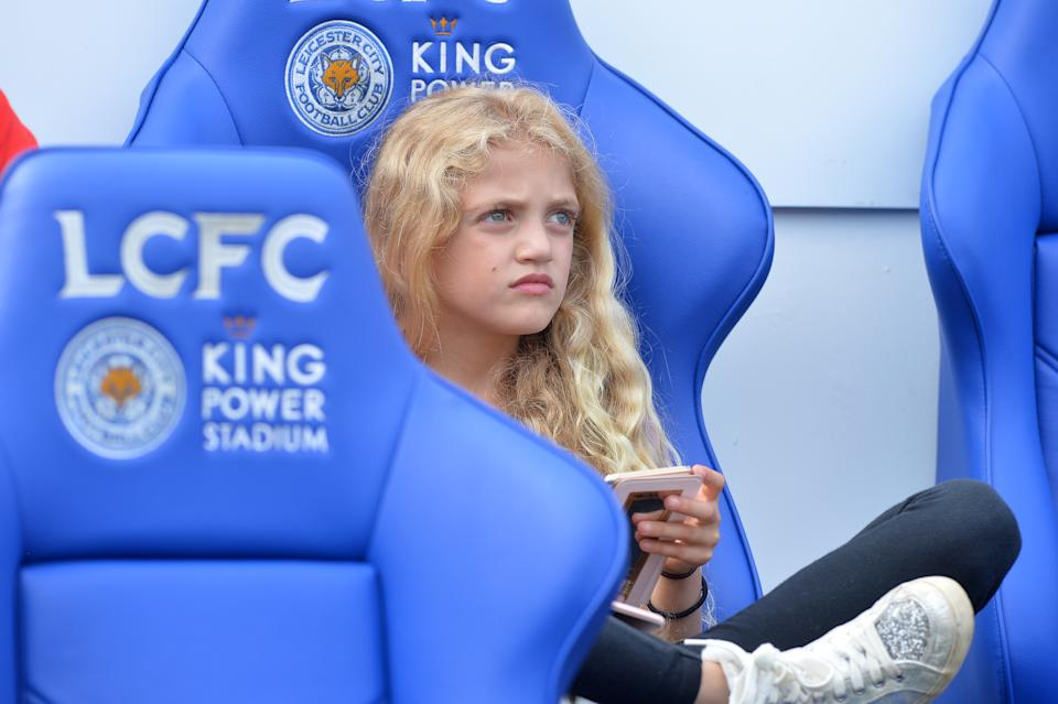 LEICESTER, ENGLAND - May 28: Katie Price's daughter Princess Andre during the Celebrity Charity Football Match at King Power Stadium on May 28 , 2017 in Leicester, United Kingdom.  (Photo by Plumb Images/Leicester City FC via Getty Images)
