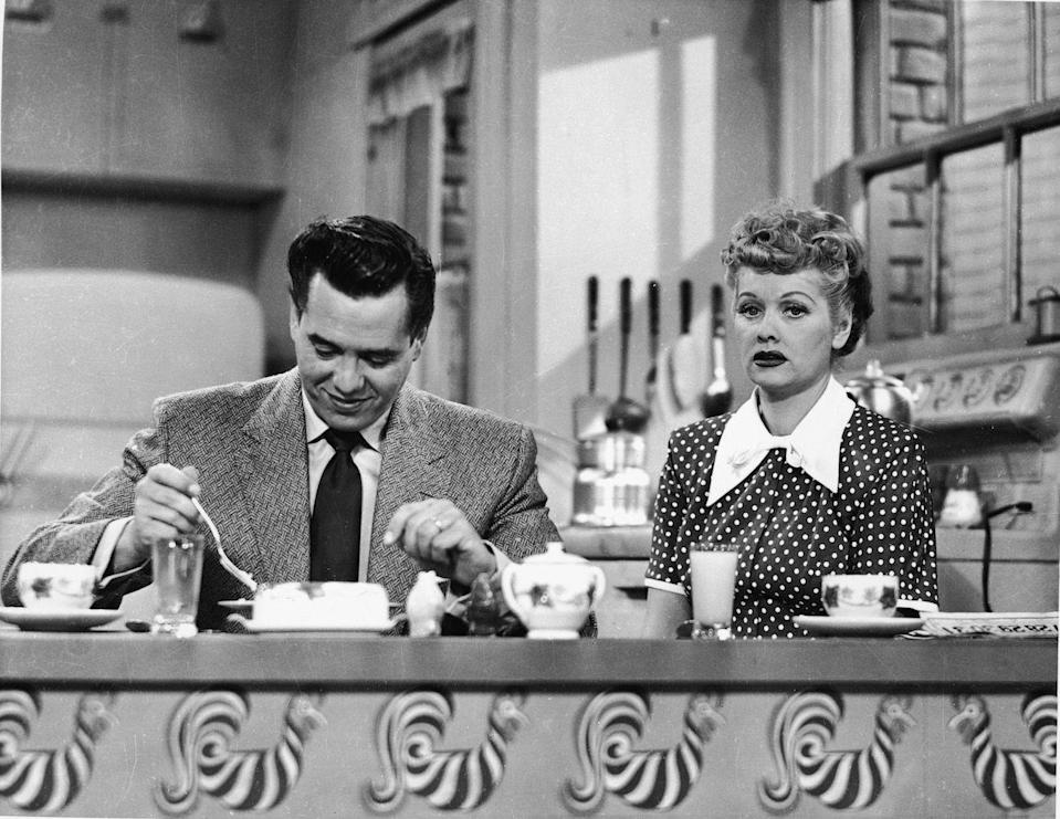"<p>On October 15, <em>I Love Lucy</em> debuts. In the <a href=""http://www.metv.com/stories/the-beginnings-of-i-love-lucy-by-the-numbers"" rel=""nofollow noopener"" target=""_blank"" data-ylk=""slk:first season"" class=""link rapid-noclick-resp"">first season</a>, the show reaches over 10 million viewers. </p>"