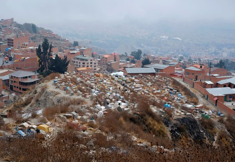 Bolivian families turn to makeshift graves as cemeteries fill during pandemic