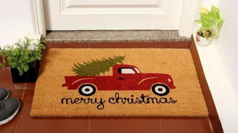 Isn't this Christmas doormat the cutest?