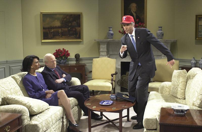 """Will Ferrell playing George W. Bush on """"Saturday Night Live"""" in 2002. (Photo: NBC via Getty Images)"""