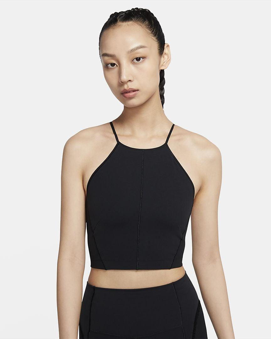 <p>The high neck is what makes the <span>Nike Women's Infinalon Cropped Tank</span> ($55) stand apart from all the rest - giving you a perfect excuse to buy yet another workout top.</p>