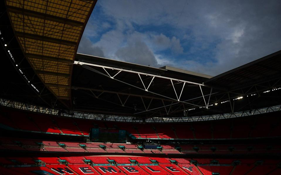 A general view of Wembley Stadium prior to the UEFA Euro 2020 Championship Group D - Marc Atkins/Getty Images