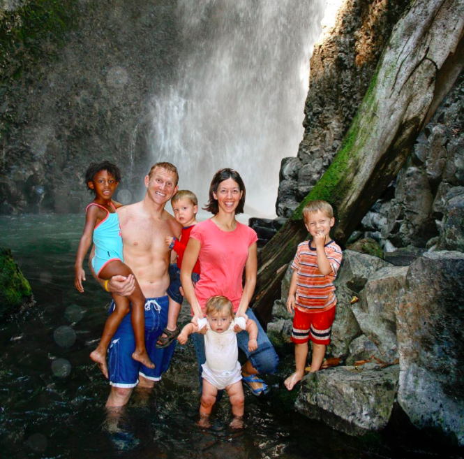 The Dennings on their first trip to Costa Rica in 2007 (Worldschool Family)