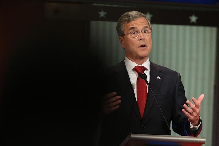 <p>Candidate Jeb Bush participates in the Fox Business Network Republican presidential debate at the North Charleston Coliseum and Performing Arts Center on Jan. 14, 2016, in North Charleston, S.C. <i>(Photo: Scott Olson/Getty Images)</i></p>