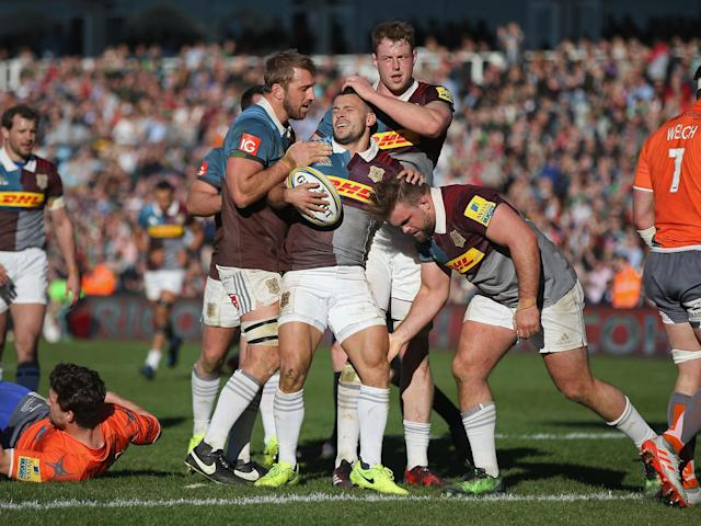 Harlequins thrashed Newcastle to keep their top four hopes alive: Getty